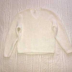 H&M White Chunky Sweater XS